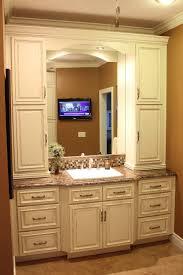 minimalist vanity bathroom furniture dark wood gray freestanding rattan minimalist