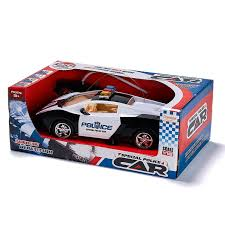 prextex remote control police car with led lights and rc police