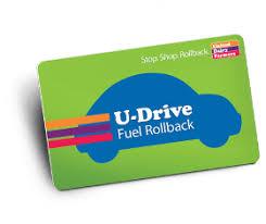 u drive udf gas rewards card program udf