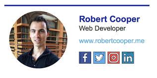 creating slick email signatures using html u0026 css u2013 robert cooper