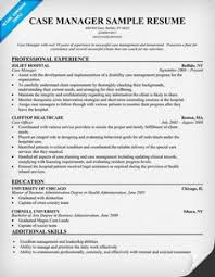 free sample cover letter case manager