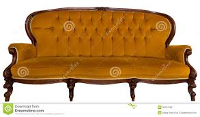 vintage sofa isolated on white stock photo image 35791762