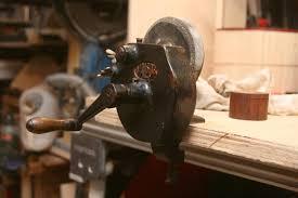 Old Bench Grinder Hand Powered Vintage Bench Grinder Restore By Mafe