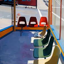 waiting area red chairs u2013 paintings u2013 dmitri cavander