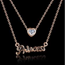 princess necklace images Princess necklace crystal heart pendant ushoptwo png