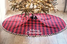 plaid tree skirt buffalo plaid christmas tree skirt quilted christmas tree