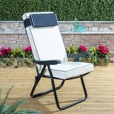 Garden Recliner Cushions Luxury Garden Recliner Cushion In Cream Alfresia