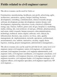 Best Engineering Resume Samples by Top 8 Civil Engineer Resume Samples