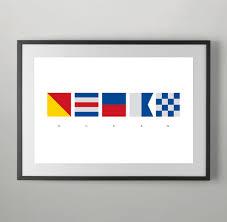 international home decor ocean summer international maritime signals alphabet flags