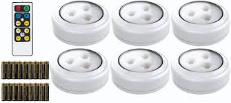 lights kitchen cabinets battery operated brilliant evolution led puck light 6 pack with remote wireless led cabinet lighting counter lights for kitchen battery operated