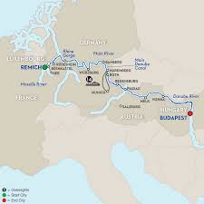 Map Of Central Europe Central European River Cruise Avalon Waterways