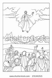 coloring page of jesus ascension jesus ascends to heaven coloring page collection jesus ascension