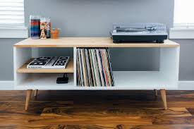 mid century record cabinet community modern builds