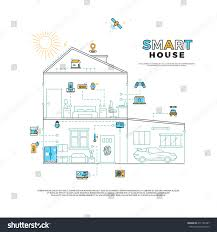 smart house technology system vector concept stock vector