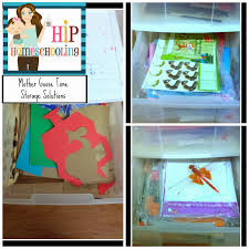 storing and organizing our preschool curriculum