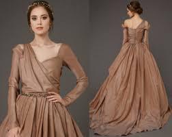 brown wedding dresses modern wedding dress etsy