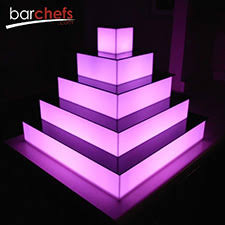 cupcake stand with led lights light up 5 level acrylic pyramid acrylic cupcake stand