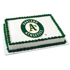 mlb oakland athletics photo cake u2013 freedom bakery u0026 confections