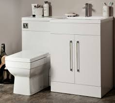 L Shaped Vanity Cassellie L Shaped White Basin Vanity And Back To Wall Wc Unit