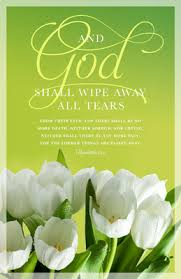 Funeral Bulletin And God Shall Wipe Away All Tears Revelation 21 4 Regular