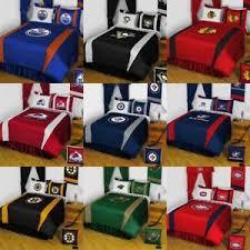 Hockey Bedding Set 5pc Nhl Hockey Logo Bedding Set Sports Team Bed Comforter Sheets