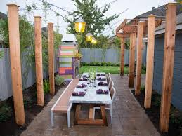 amazing backyard ideas yellow outdoor lighting fixtures and bamboo table for amazing