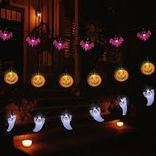 halloween ghost string lights 3 5m 30 led halloween pumpkin bat ghost string lights battery