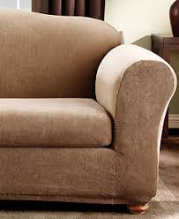 2 Piece T Cushion Loveseat Slipcover Sure Fit Stretch Stripe 2 Piece Slipcover Collection Slipcovers