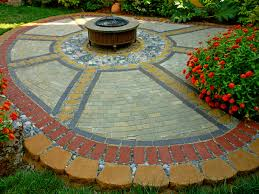 Round Patio Stones by Awesome Round Concrete Patio Blocks Home Design Image Classy
