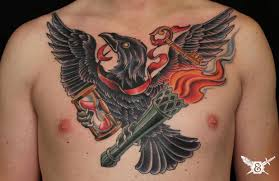 wing back tattoos for guys raven chest tattoo buscar con google chest pinterest skin