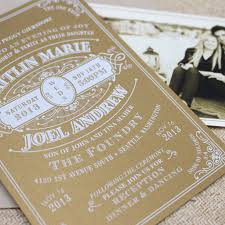vintage typography wedding invitation white ink