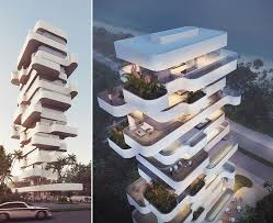 Strikingly Design Architectural Concept For Apartment  Unique - Apartment architectural design