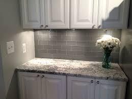 Backsplash For Kitchen With Granite Backsplash Ideas Stunning Gray Glass Backsplash Gray Glass