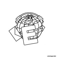 Coloriage Lettre E dessin