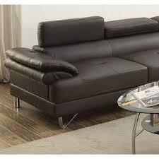 esofastore living room furniture classic espresso faux leather