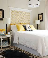 yellow and white bedroom big blank wall design solutions blank walls easy wall art and