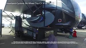 Cyclone 4200 Floor Plan Heartland Cyclone 5th Wheel Toy Cy 4100 King Youtube