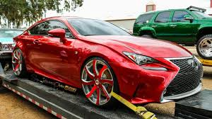 lexus rc f stance candy red clean lexus rc f on forgiato wheels in hd must see