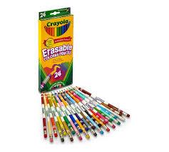 erasable colored pencils 24 ct crayola