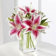 pink lilies pink bouquet
