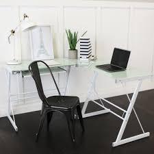 3 piece glass desk walker edison 3 piece contemporary desk multi amazon ca home
