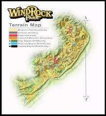 Oak Ridge Tennessee Map by Park Maps Windrock Park