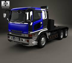 mitsubishi fuso truck mitsubishi fuso super great fp tractor truck 1996 3d model hum3d