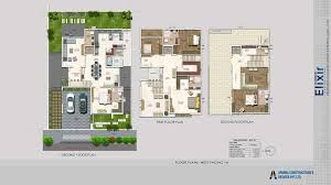 Buy Floor Plans Online by 4 Bhk Villas For Sale In Hyderabad Aparna Elixir
