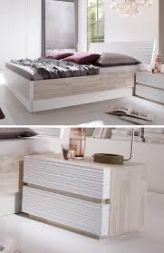 bett modern design bett padua mit wunderschönen profilierten akazie elementen