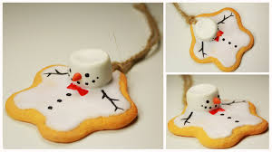 polymer clay melting snowman cookie ornament tutorial youtube