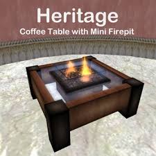 Firepit Coffee Table Second Marketplace Heritage Coffee Table W Mini Pit