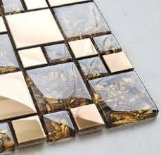 Modern Kitchen Tile Backsplash by 1sf Stainless Steel Metal Gold Silver Copper Mosaic Tile Kitchen