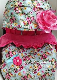 Pink Car Seat Canopy by Infant Car Seat Cover Canopy Blanket Turquoise Blue Floral Print