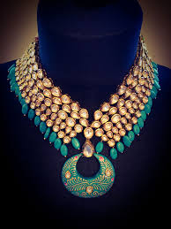 turquoise colored necklace images Exclusive turquoise blue stone gold plated kundan necklace png